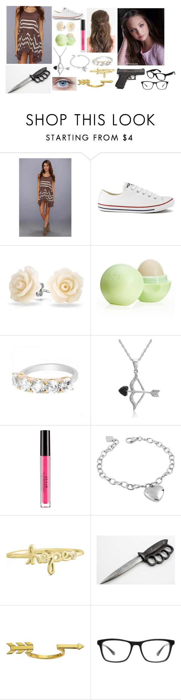 """twd"" by sweetheart20045 ❤ liked on Polyvore featuring Free People, Converse, Bling Jewelry, Eos, Amanda Rose Collection, Stila, West Coast Jewelry, Sydney Evan, Gorjana and Joseph Marc"