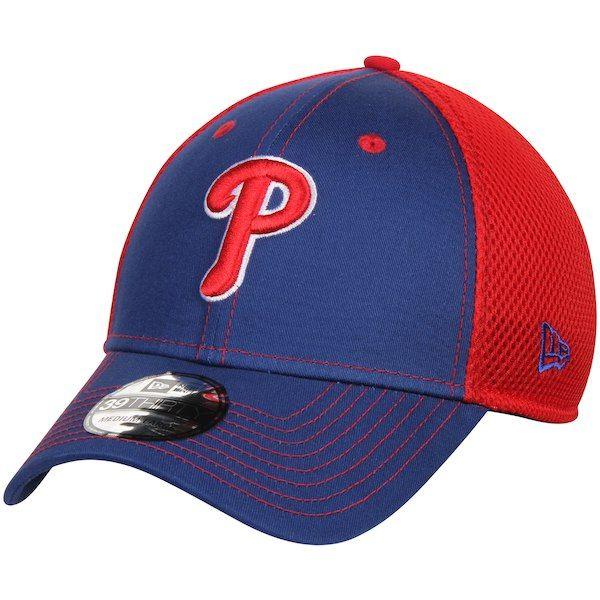 633bfa7b551fa Men s Philadelphia Phillies New Era Royal Red Team Front Neo 39THIRTY Flex  Hat