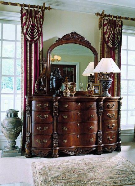 pulaski edwardian king bed set luxurious bedrooms