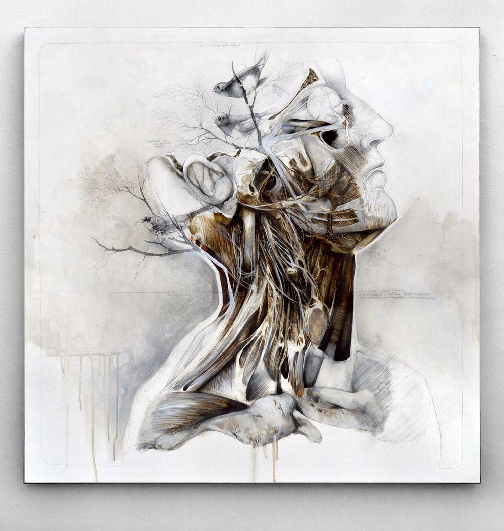 Nunzio Paci\'s Graphite and Oil Paintings Merge Nature and Anatomy ...