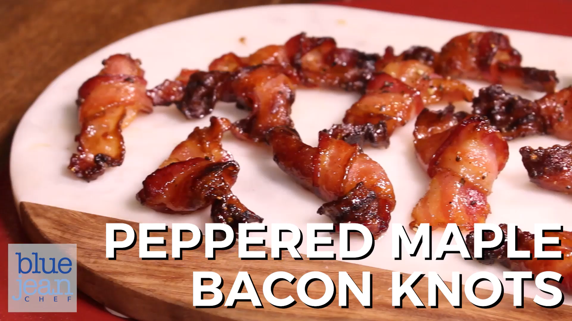 Peppered Maple Bacon Knots - Bacon knots are hands down the prettiest way to present bacon. Just a