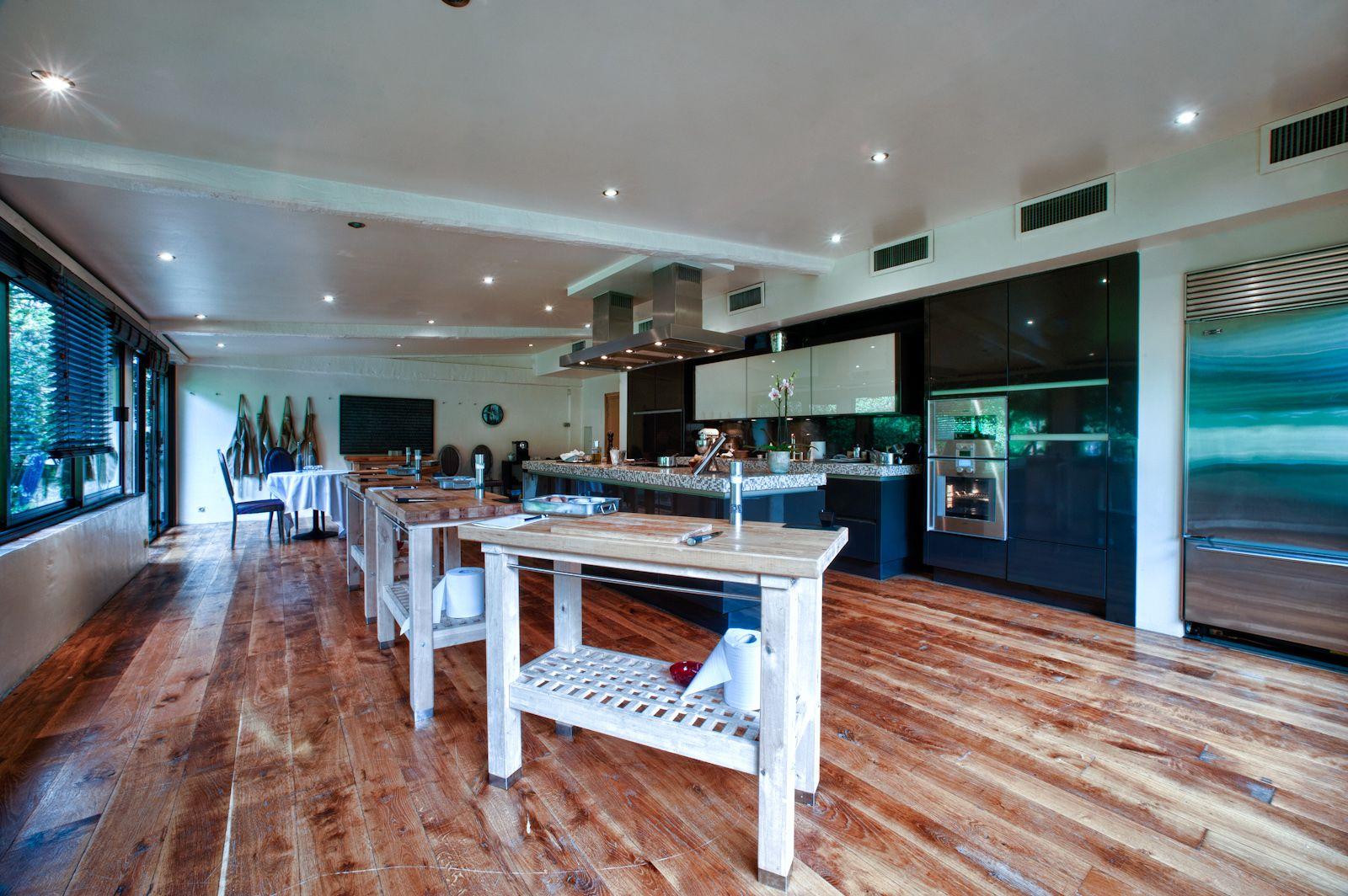 La salle mise à disposition pour les cours de cuisine.