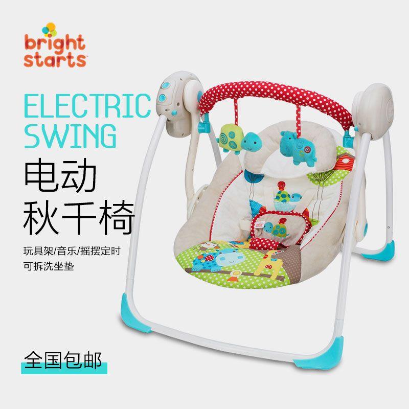 Elektrische Wipstoel Baby.Amerikaanse Bright Starts Baby Elektrische Schommelstoel Babybed