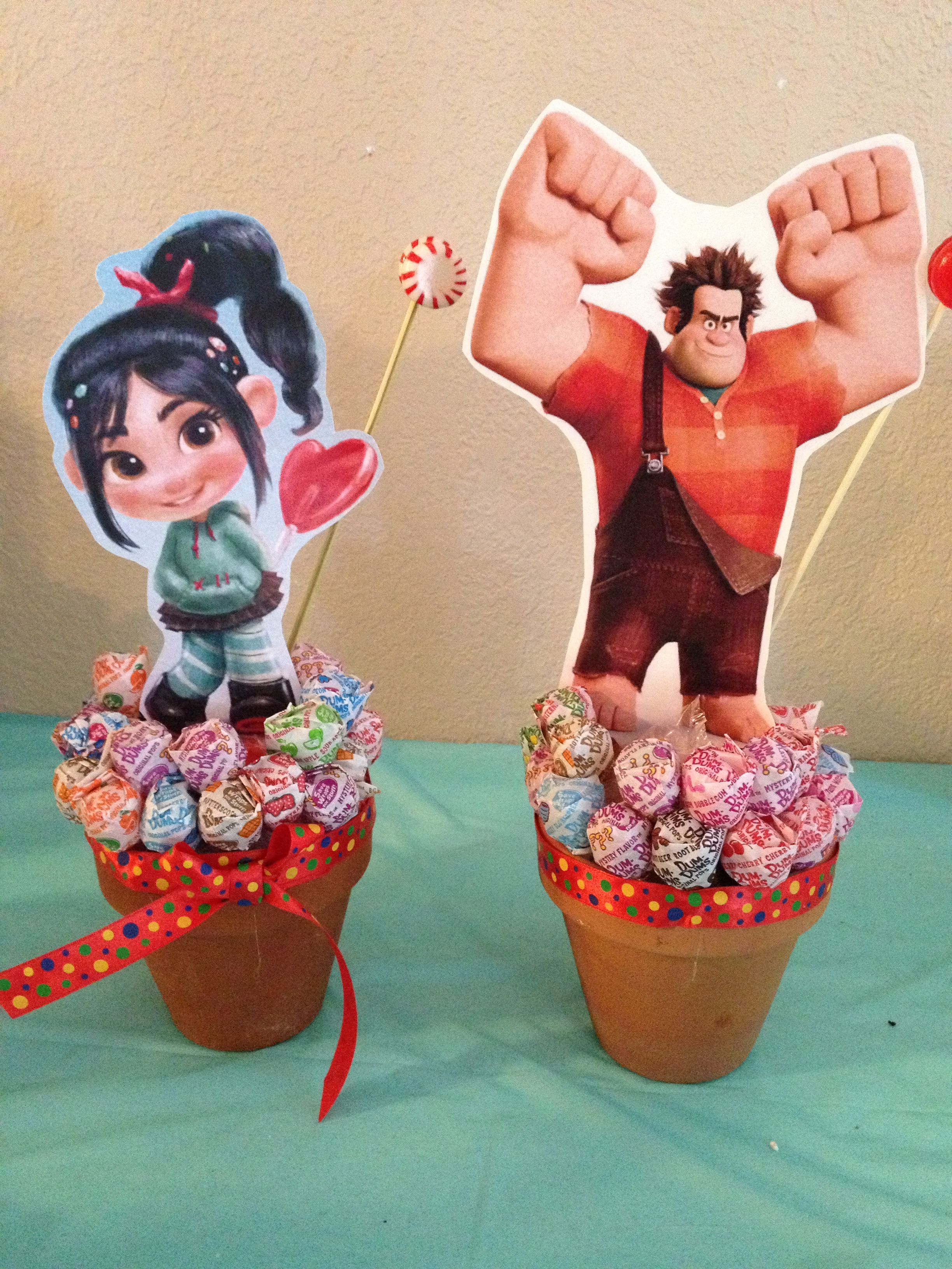 Wreck It Ralph Party Centerpieces Birthday Party Centerpieces