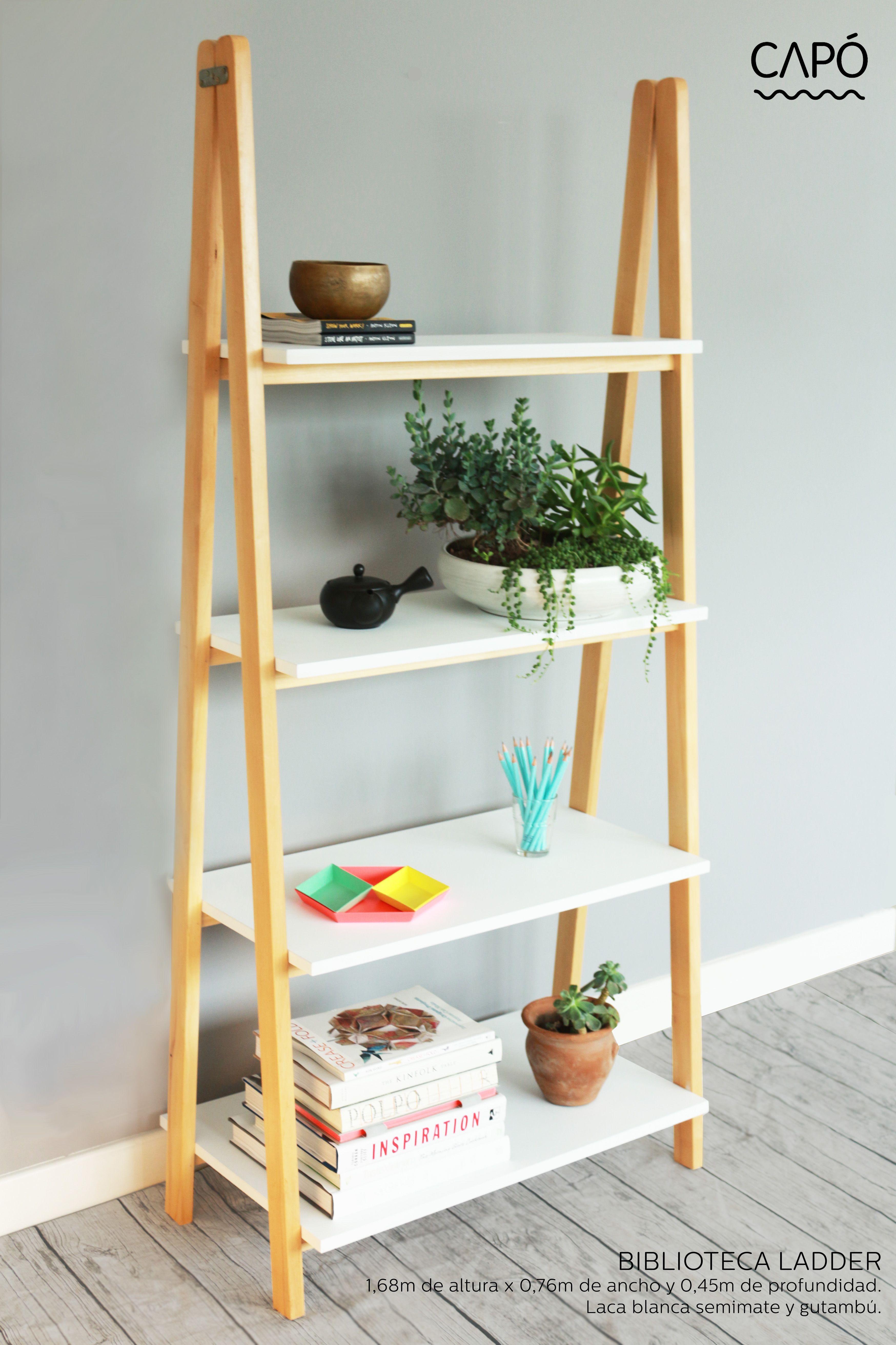 Repisa ladder muebles y objetos cap cap pinterest for Repisa escalera