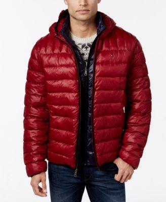 TOMMY HILFIGER Tommy Hilfiger Hooded Packable Jacket. #tommyhilfiger #cloth # coats