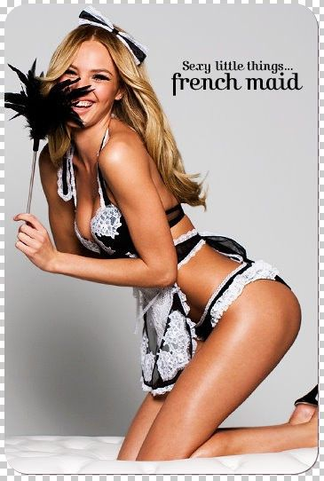 model lingerie French maid