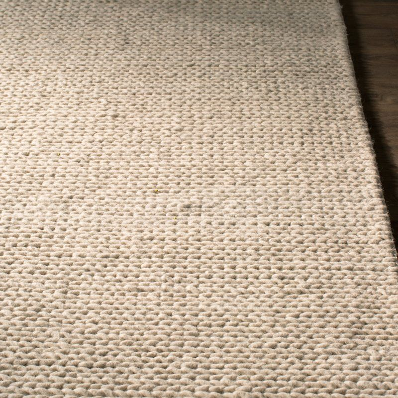 off white area rug. Dunfee Chunky Hand-Woven Wool Off White Area Rug