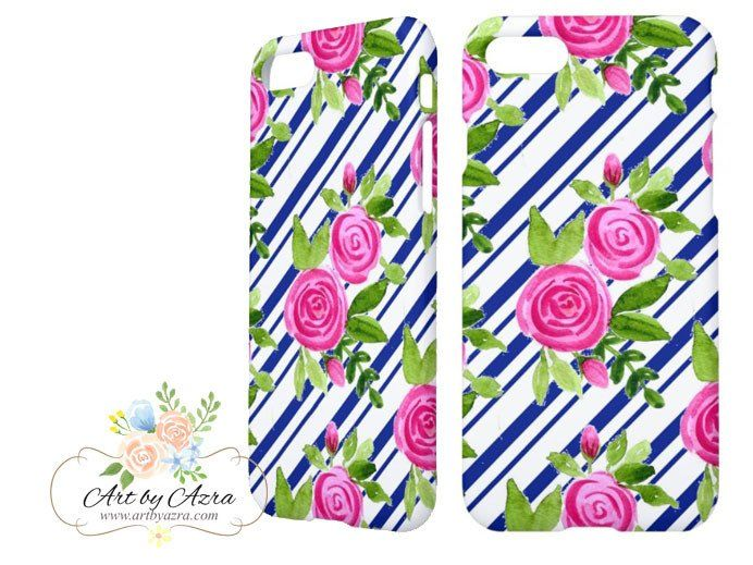 Original watercolour paintings digitalised and designed for mobile phone cases. The case fits tightly and securely to your phone. The design is printed directly