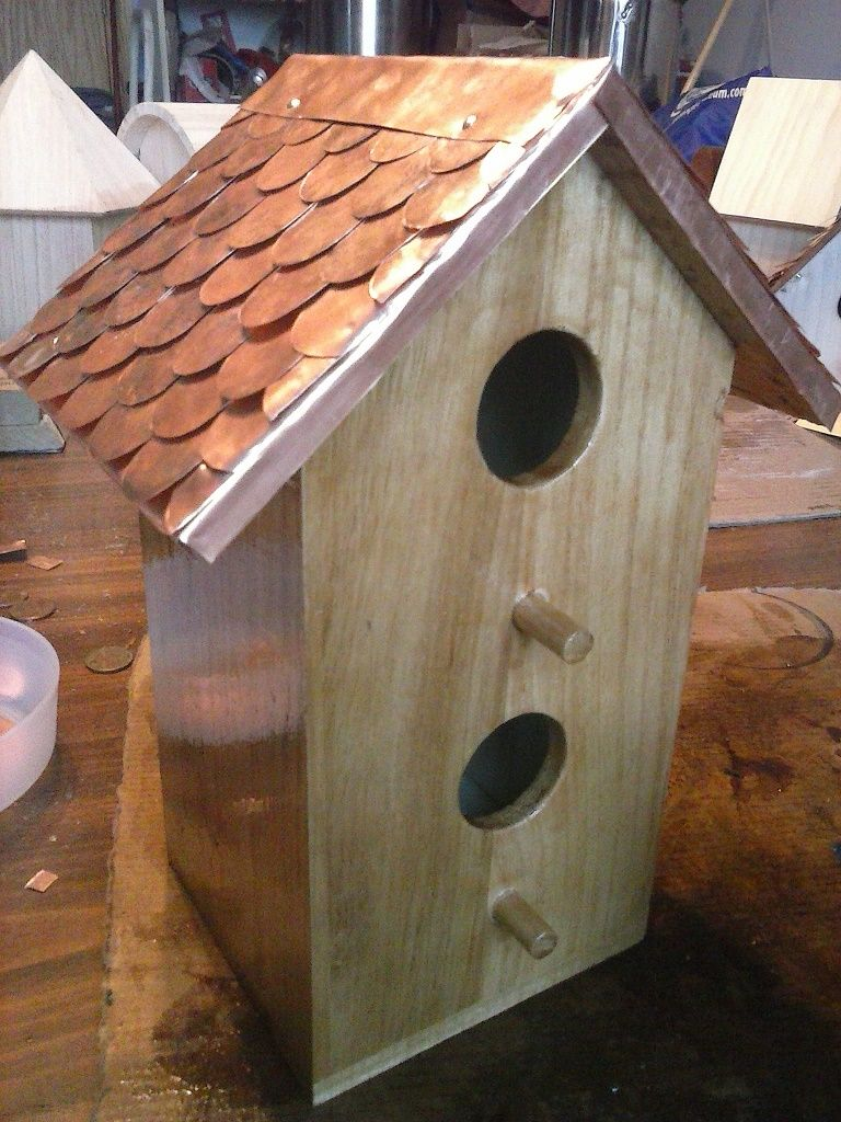 Pin On Birdhouses With Copper Roofs