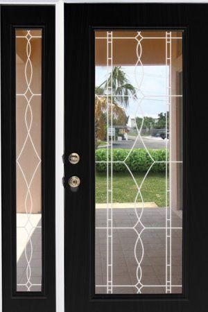 Allure Leaded Glass See Through Clear Window Film Static Cling Decorative Window Film Window Film Door Glass Design