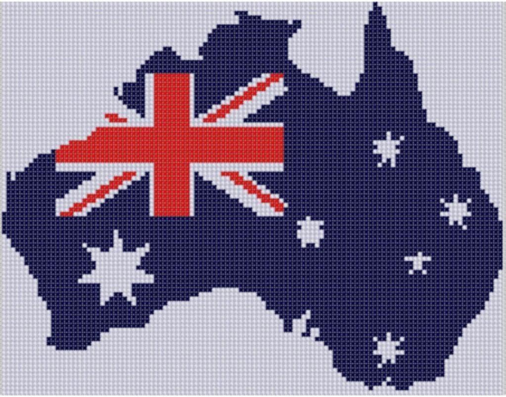 Australia Cross Stitch Pattern Cross Stitch Flag Cross Stitch