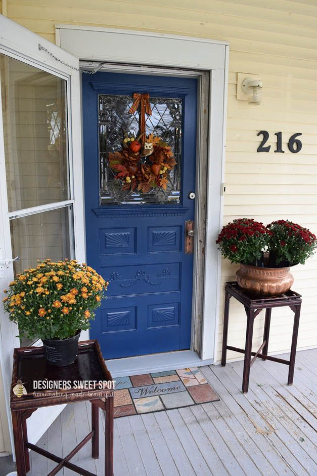 Modern Masters Non Fade Front Door Paint Project By Designers Sweet Spot |  Color: Calm | Blue Front Door | Home Decor | Pinterest | Front Doors, Doors  And ...