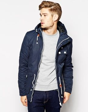 cheap for discount 941dd 755cf Blend Hooded Parka Jacket - Navy | SHOPPING LIST | Style ...