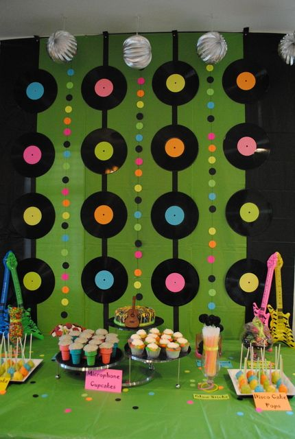 Rock N Roll Birthday Party Ideas Yina Leones V Pinterest 80er