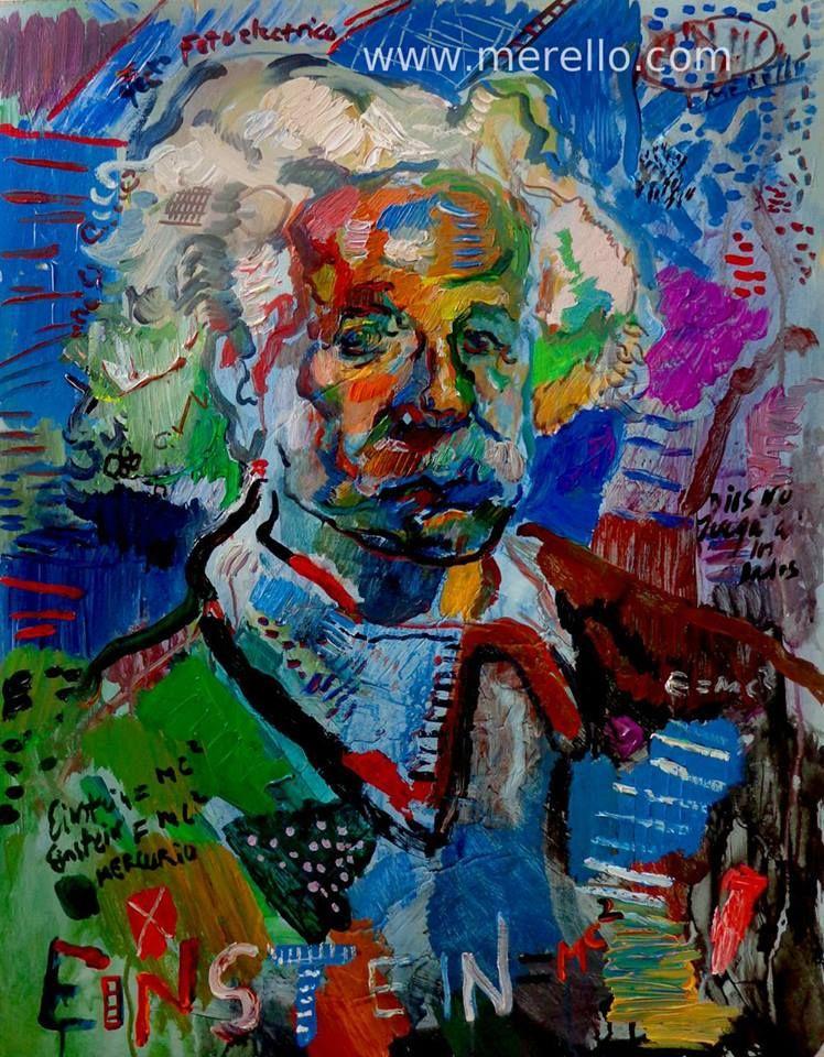 Blue einstein jose manuel merello einstein azul arte - Cuadros contemporaneos ...