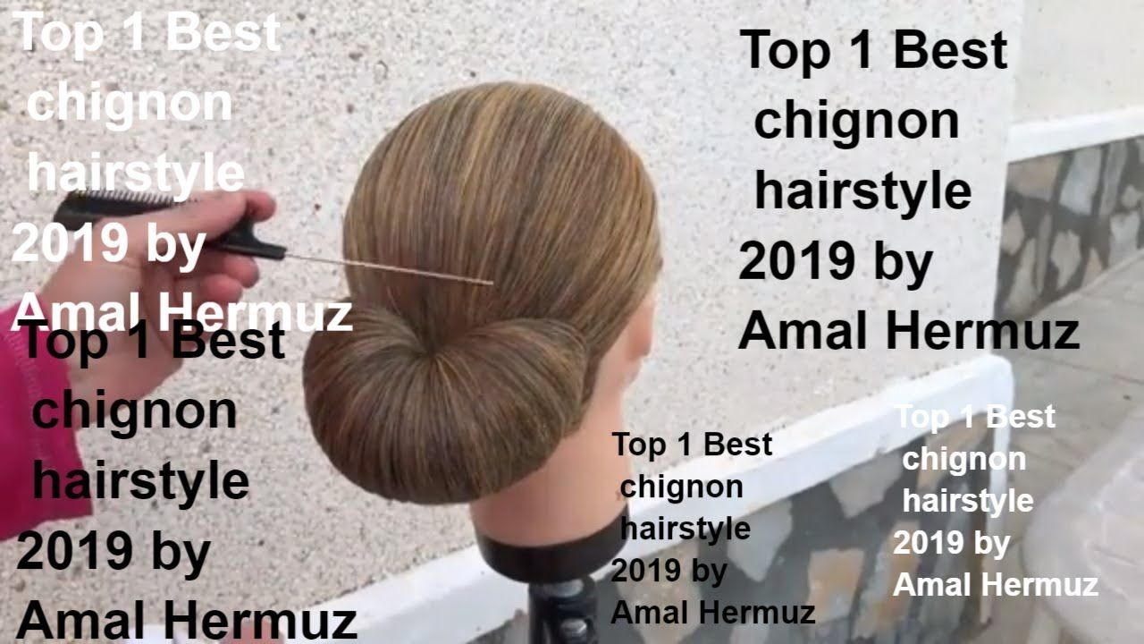 Top  Best chignon hairstyle  by Amal Hermuz  フィッシュテール
