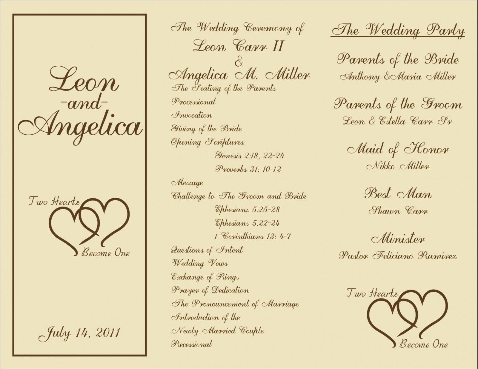Sample Of Wedding Program   Beloved Blog