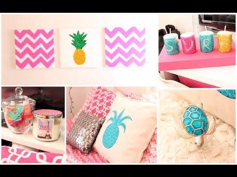 diy summer room decor organization tips youtube diy summer decorationsdecoration - Youtube Bedroom Decorating Ideas