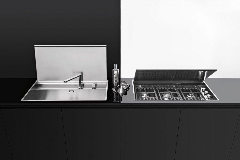 Piano cottura Lab incasso e filo da 120 - Barazza srl | piani ...