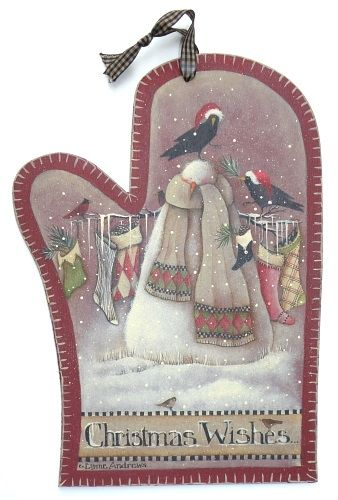 Lynne Andrews Christmas Wishes Mitten Pattern Packet