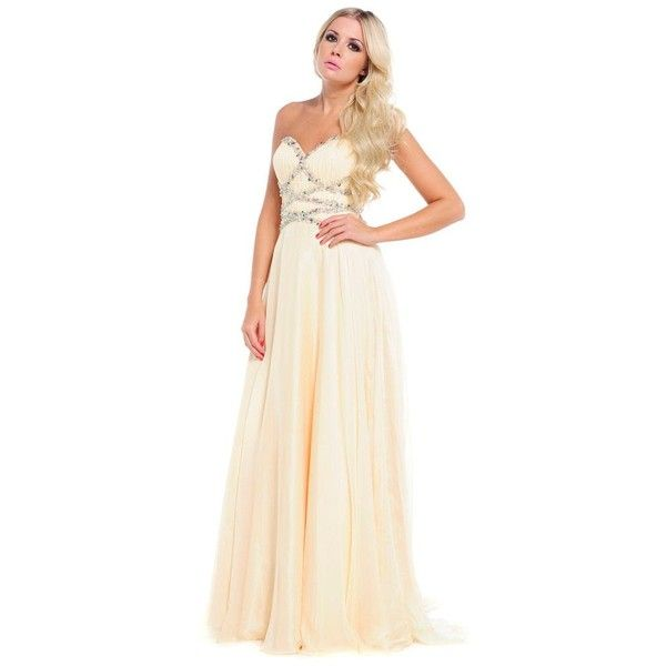Ruby Prom Kerry Lemon Strapless Prom Dress or Evening Gown ❤ liked ...