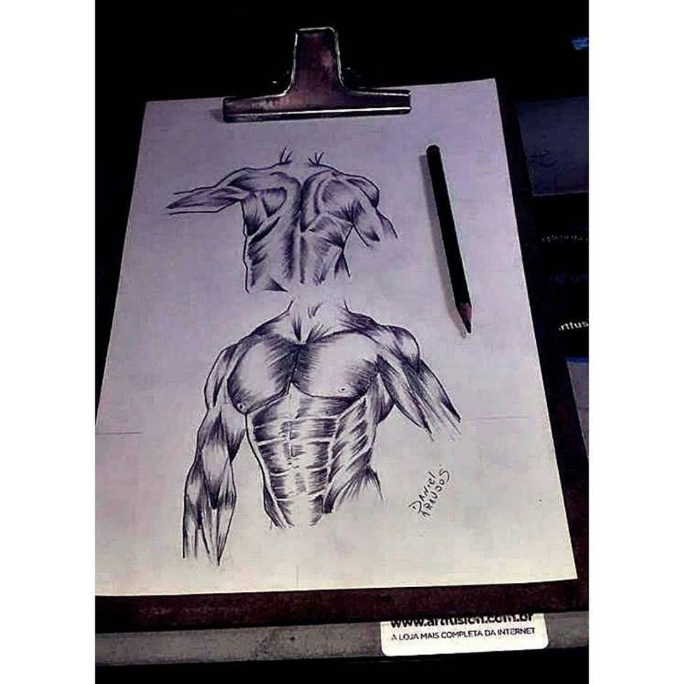 Estudos Anatomia = D | Estudos Rábiscos Skecth Daniel Araujo S ...