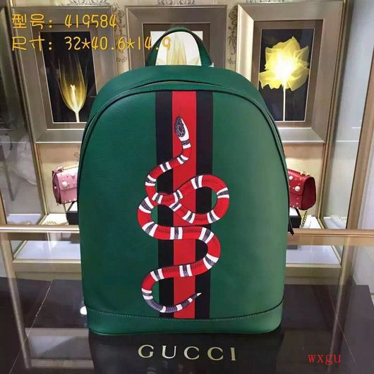 c6d93c673014 Gucci 419584 Backpack snake leather backpack green leather | Gucci ...