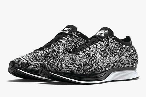 New Arrival Nike Flyknit Racer Dark Grey Black Noir White blanc Youth Big  Boys Shoes fca9a3947836