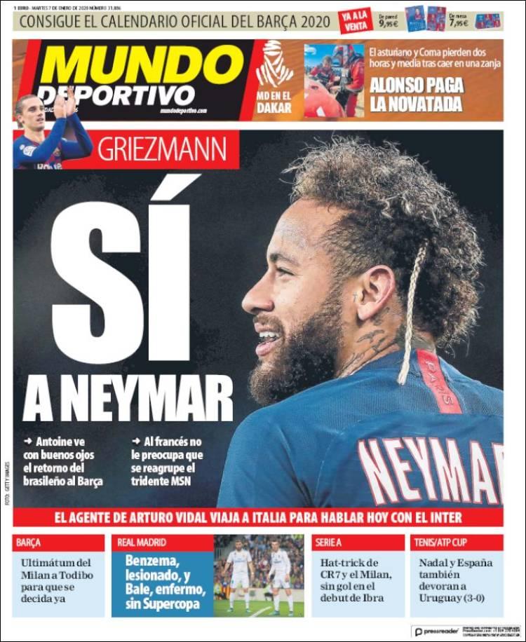 20200107 Periódico El Mundo Deportivo (España