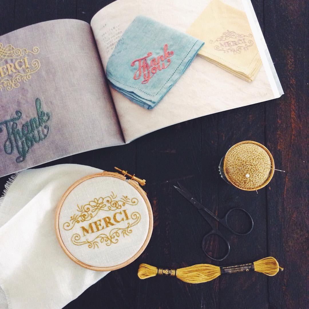いつもお世話になっている大切な方に。 #embroidery #刺繍 #ことばをのせてつくる1色刺繍の小さな贈り物