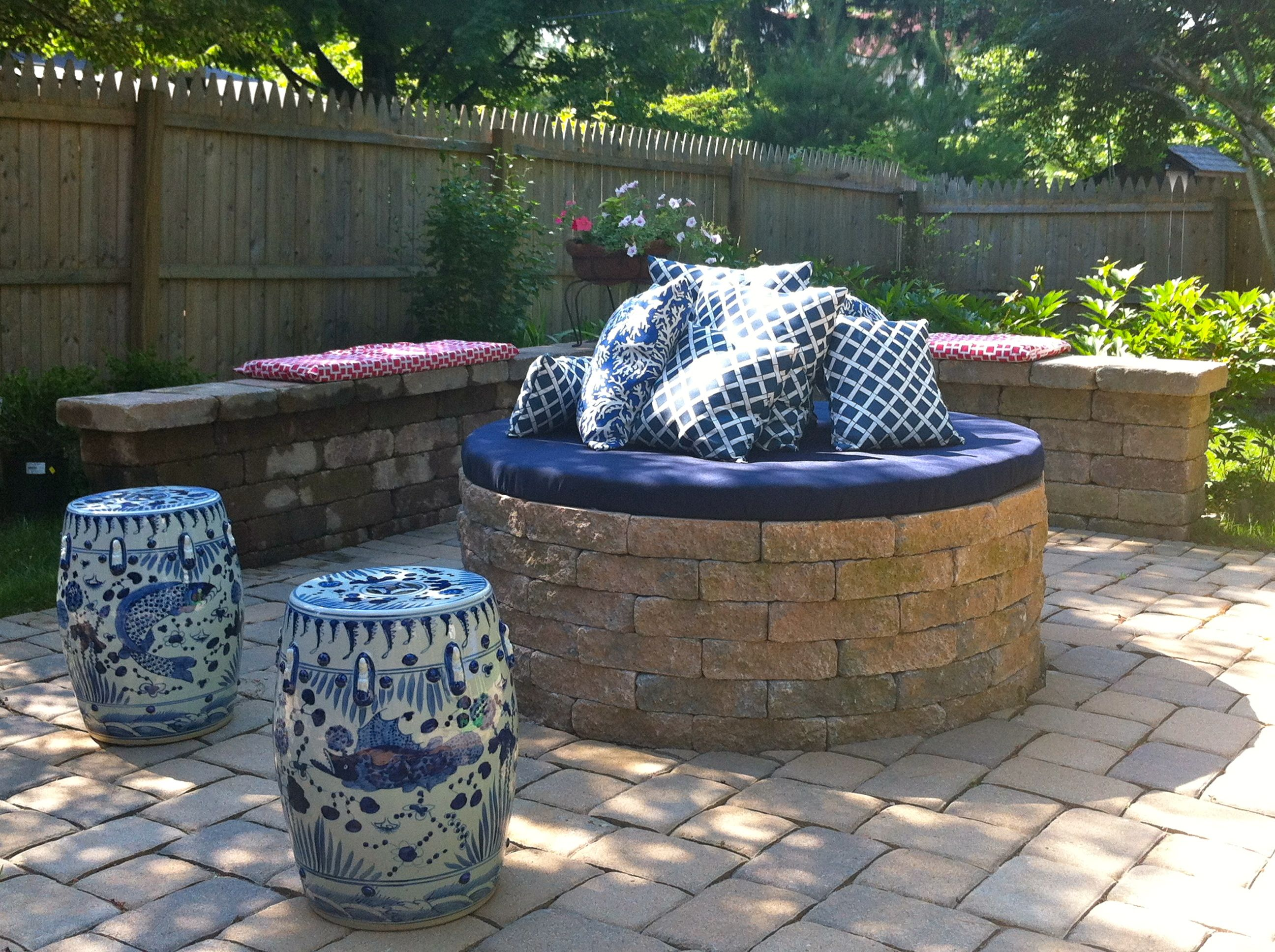 Diy Back Yard Fire Pits Pit Cover Mint Chevron