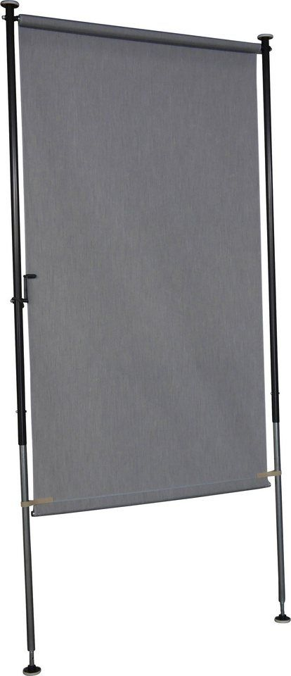140. Balkonsichtschutz, B 150 cm, granitgrau Balkon