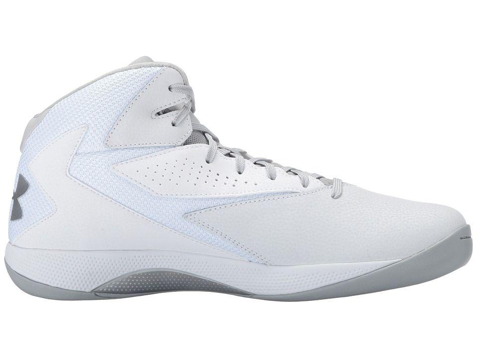 51a6451acaa8 Under Armour UA Lockdown Men s Basketball Shoes White White Metallic Silver