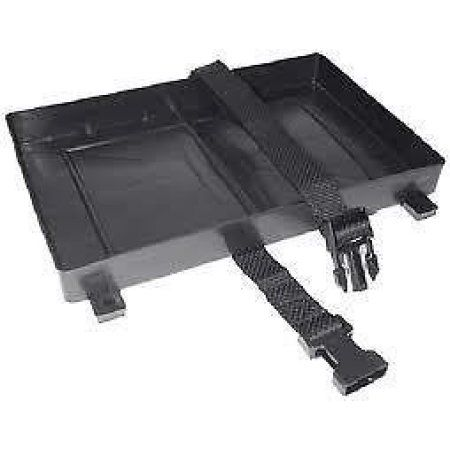 Seachoice Battery Tray with Hold Down Strap, Black Boat