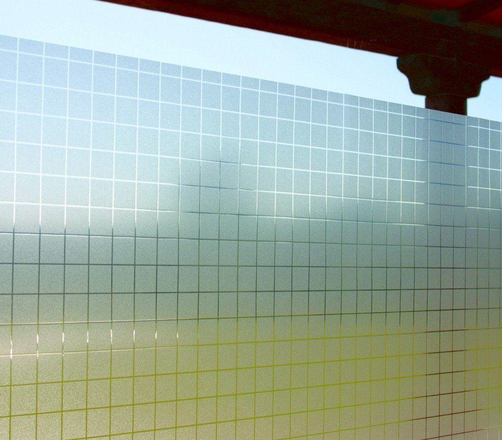 Statische Dekorfolie Fensterfolie Check Karo 46 x 150 cm