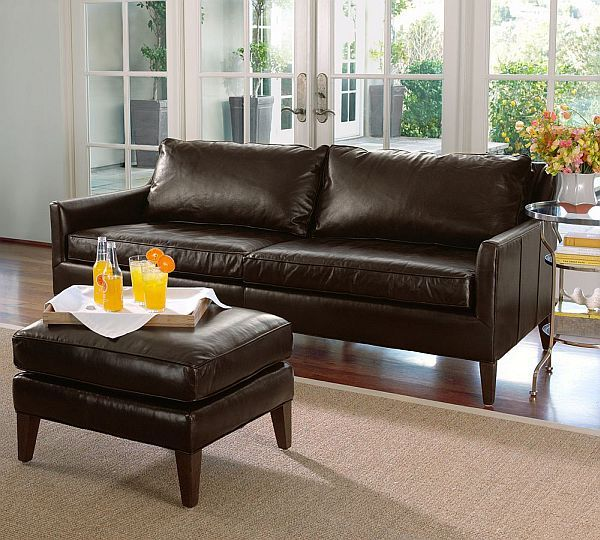 brown leather sofa on legs chesterfield bed arlington pinterest sofas ottomans and