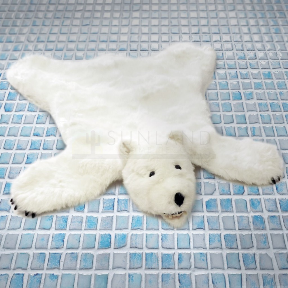 36in Polar Bear Premium Ultra Soft Plush Faux Animal Skin Rug In 2020 Polar Bear Plush Faux Animal Skin Rugs Animal Skin Rug