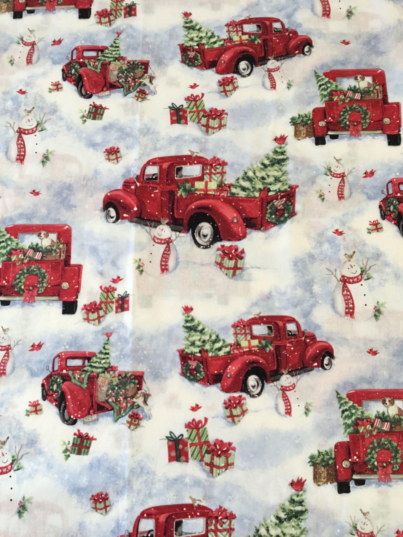 "Susan Winget Off To Grandma's Christmas Fabric 33"" x"