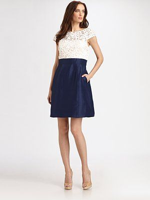 Kay Unger - Lace-Top Dress