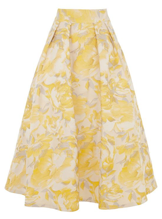 yellow full skirt by Coast