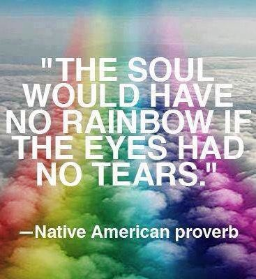 Pin By Kelly On Rainbows Native American Proverb Words Rainbow Quote
