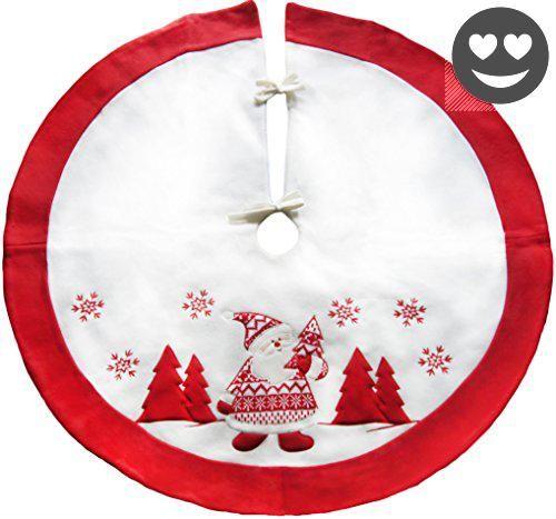 LimBridge Rustic Christmas Tree Skirt Holiday Decoration 35-1/2 Inch