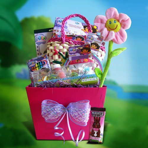 Easter gift baskets for girls gift baskets by dora the explorer by easter gift baskets for girls gift baskets by dora the explorer by gift basket for kids negle Gallery