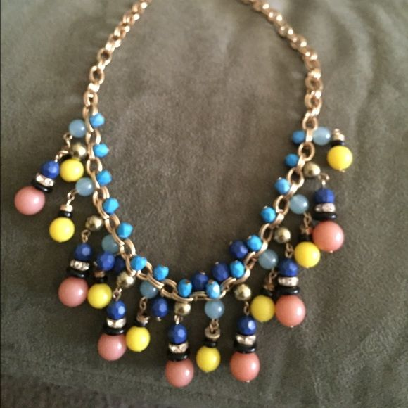 Bright colored statement necklace. Adjustable statement necklace Jewelry Necklaces