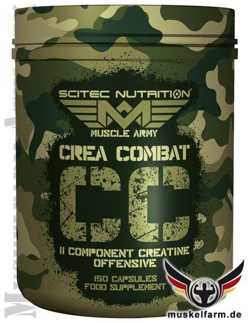 Scitec Nutrition Crea Combat ist ein Multi-Creatin-Rezeptur aus insgesamt 11 Komponenten mit hoher Creatindosierung, optimiert mit Niacin und Folat.