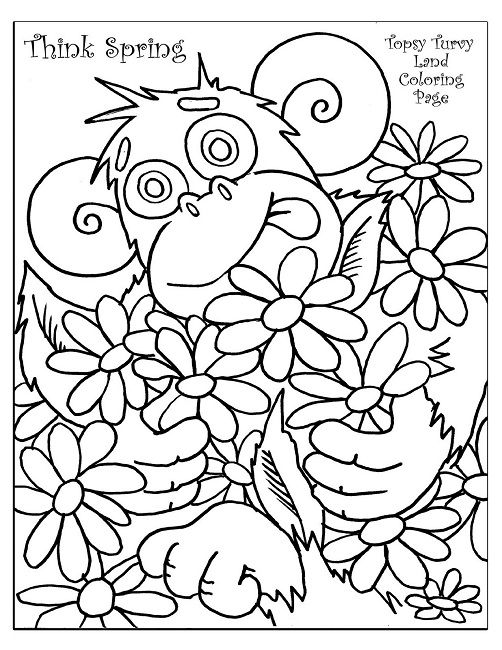 spring coloring pages for first