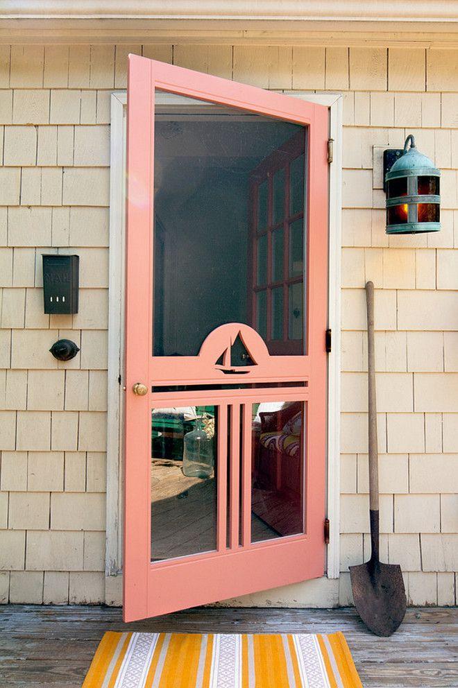 Orange Screen Door Paint Color Is Benjamin Moore Golden