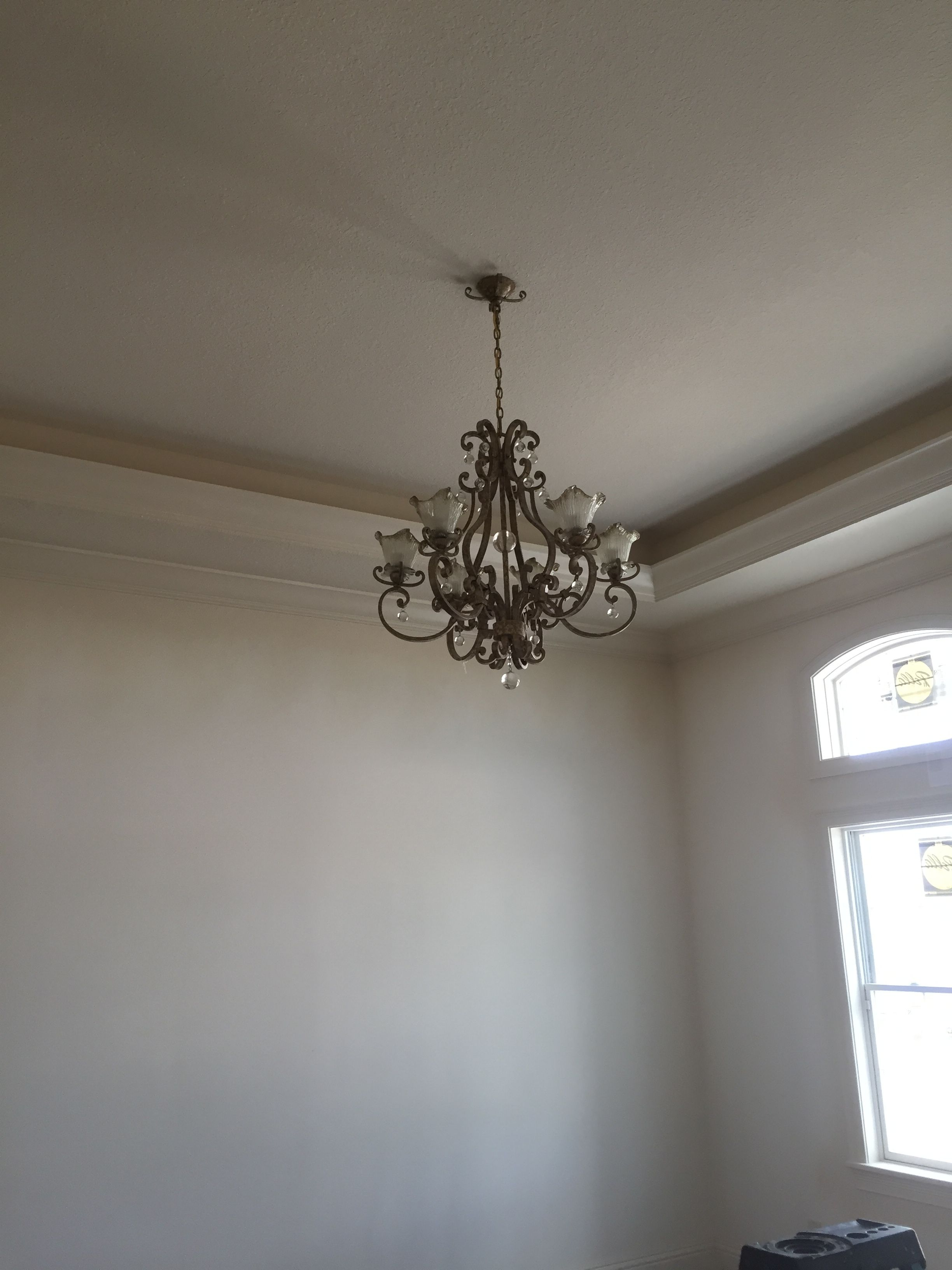 painting paint medallion chandelier how ceiling destashio brass finished a to painted