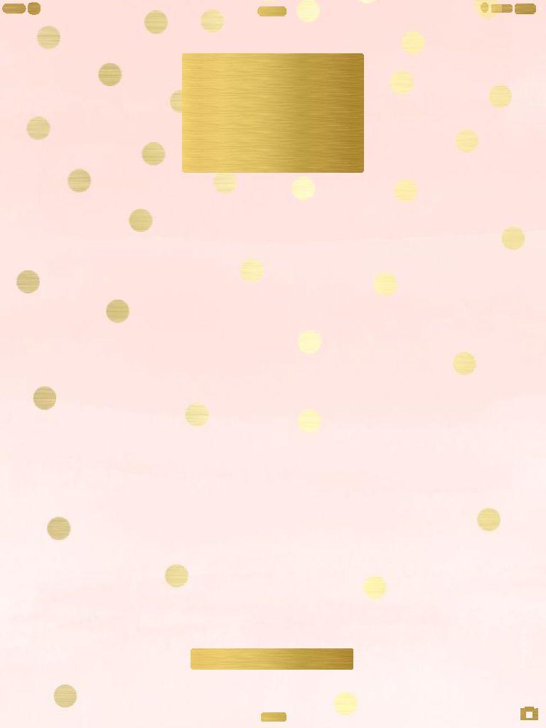 Ipad Mini Pink And Gold Wallpaper